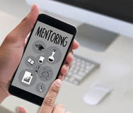 MENTORING career growth, progress and potential concepts ,  work Stock Photography