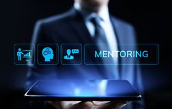 Mentoring Coaching Training Personal development and education concept. royalty free stock image