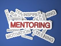 Mentoring Concept. Mentoring Concept on Blue Background. 3D Render Royalty Free Stock Images