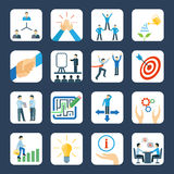 Mentoring flat icons set Royalty Free Stock Photos