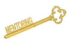 Mentoring - Golden Key, 3D Stock Photos
