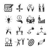 Mentoring Icons Set Stock Photos