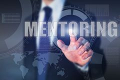 Mentoring. Business education concept, mentor Stock Photo