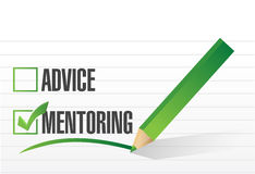 Mentoring over advice illustration design. Over a white background Stock Photo