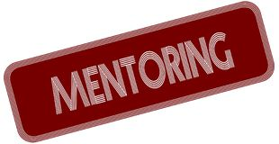 MENTORING on red label. Illustration graphic concept image Royalty Free Stock Photo