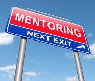 Mentoring sign concept. Royalty Free Stock Photos