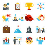 Mentoring and training flat icons, skills coaching signs Royalty Free Stock Photography