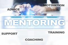 Mentoring on the virtual screen. Education concept. E-Learning. Success. Royalty Free Stock Photos
