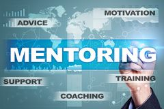 Mentoring on the virtual screen. Education concept. E-Learning. Success. Mentoring on the virtual screen. Education concept. E-Learning. Success Stock Photography