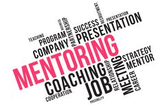 MENTORING word cloud collage, business concept background royalty free illustration