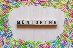 Mentoring word concept stock photography