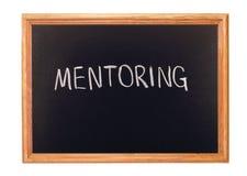 Mentoring. Written in white chalk on a blackboard - mentoring Royalty Free Stock Photos