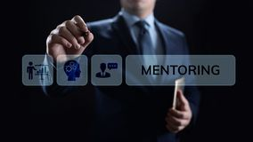 Mentoringcoachning som utbildar personligt utvecklings- och utbildningsbegrepp royaltyfria foton