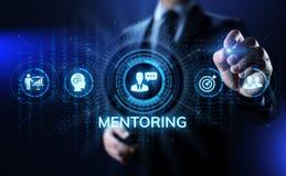 Mentoringcoachning som utbildar personligt utvecklings- och utbildningsbegrepp royaltyfri illustrationer