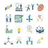 Mentoringsymboler sänker uppsättningen vektor illustrationer