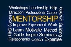 Mentorship-Wort-Wolke Lizenzfreie Stockbilder