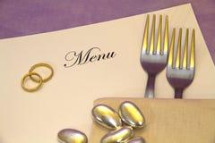 menu ślub zdjęcia stock