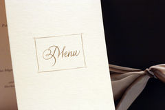 menu Fotografia Royalty Free