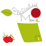 Menu. Colorful template for  menu and backgrounds Royalty Free Stock Photography