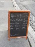 Menu. At the restaurant, France Royalty Free Stock Image
