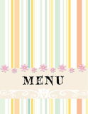 Menu. Pastel color food menu for restaurant for cafe Royalty Free Stock Photography
