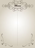 Menu. Vintage menu design on the brownish page.Vector Royalty Free Stock Image