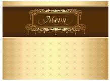 Menu. Vintage golden ornate template for menu or cover design Stock Photo