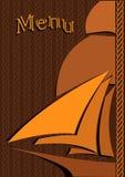 Menu. Design for fish restaurant Stock Image