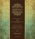 Menu Fotografia de Stock Royalty Free