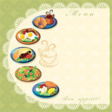 Menu. The image can be used as a food menu for a small restaurant or cafe Royalty Free Stock Images