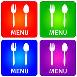 Menu. Colorful icons of a restaurant menu Royalty Free Stock Image