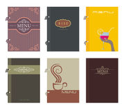 Menu. Set of restaurant menu design, vector illustration Royalty Free Stock Images