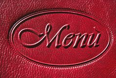 Menu. Background of menu of restaurant, bordeaux Royalty Free Stock Photos