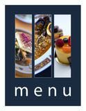 menu Fotografia Stock