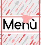 Colorful Menu with cutlery royalty free stock images
