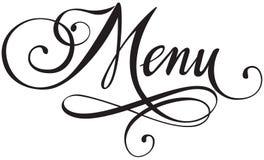 menu Fotografia de Stock Royalty Free