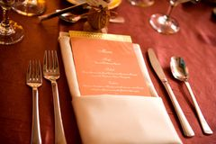 Menu Foto de Stock Royalty Free
