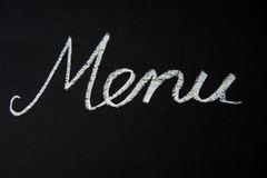 menu Στοκ Φωτογραφίες