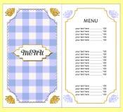 menu Foto de Stock Royalty Free
