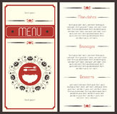 menu Στοκ εικόνα με δικαίωμα ελεύθερης χρήσης
