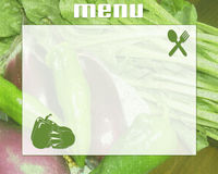 Menu. Image from use in  compositions for restaurants Royalty Free Stock Image