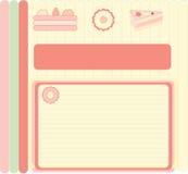 Menu. Card of the dessert menu with illustrations Vector Illustration