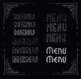 menu Obrazy Stock