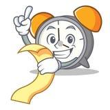 With menu alarm clock mascot cartoon Stock Image