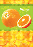 Menu arancione fresco Fotografia Stock Libera da Diritti