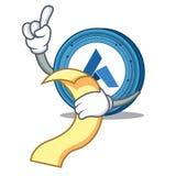 With menu Ardor coin mascot cartoon. Vector illustration Stock Images