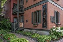 menu Auberge restauracja Zdjęcia Stock