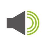 Menu audio da relação do orador ilustração royalty free