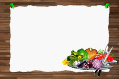 Menu background horizontal Royalty Free Stock Images