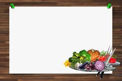 Menu background horizontal Royalty Free Stock Photo